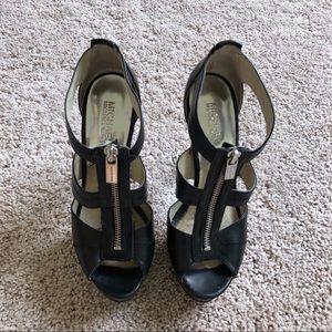Michael Kors Berkeley Black Platform Heel | 7